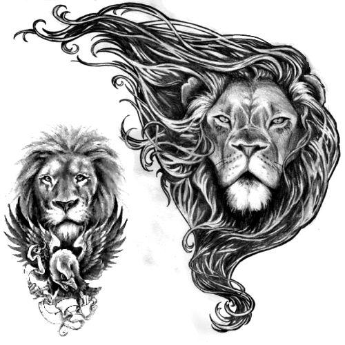 Wzór Tatuażu Lew Monika Wypożyczalnia Sprzętu